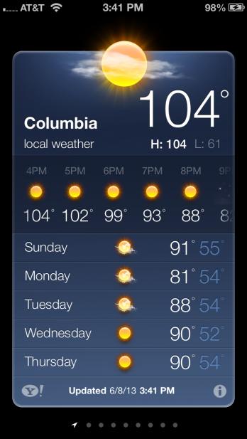 Yes....unbearably hot!!