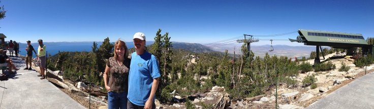 Panorama atop Heavenly...Tahoe on one side and the Nevada desert on the other