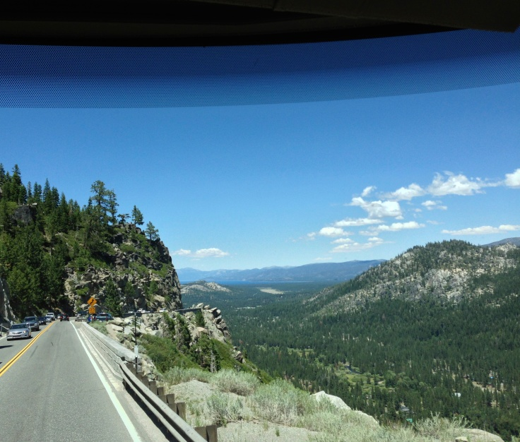 View into Tahoe from Highway 50
