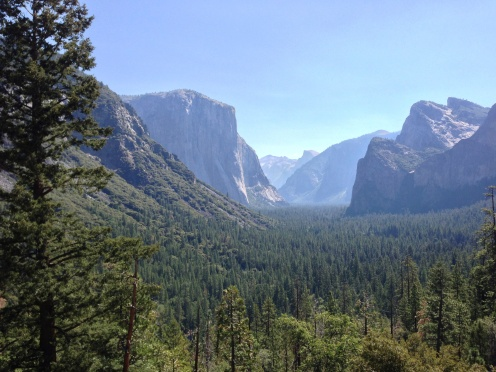 Yosemite Valley from vista point