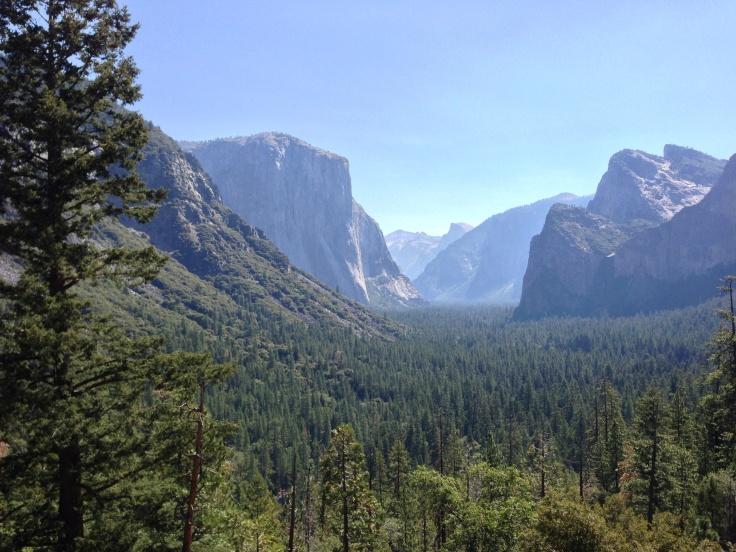 Yosemite Valley from vista point