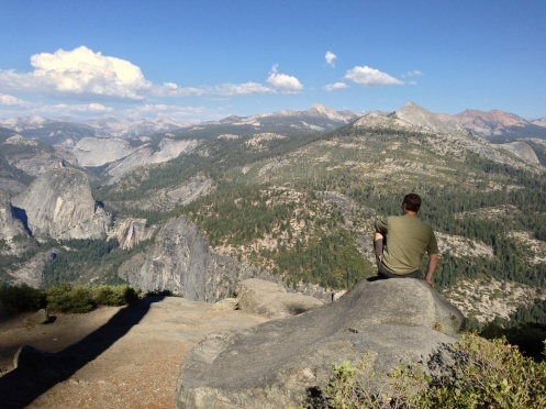 Al on the edge at Glacier Point