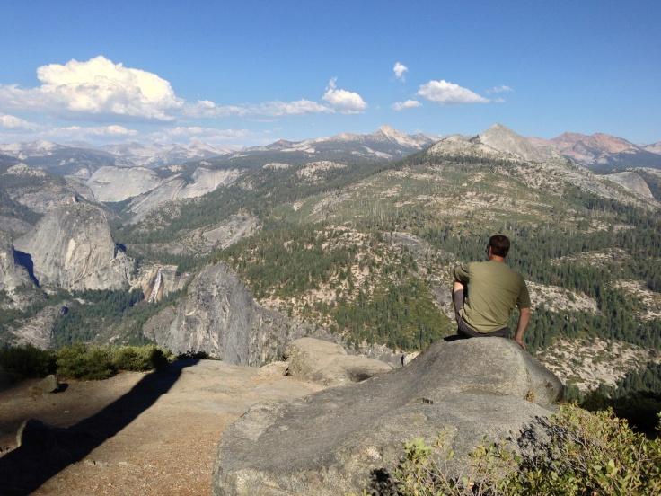Al on the edge at Glacier Point