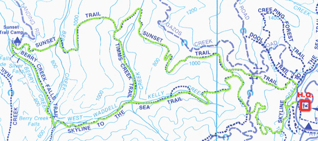 Big Basin Trail Map