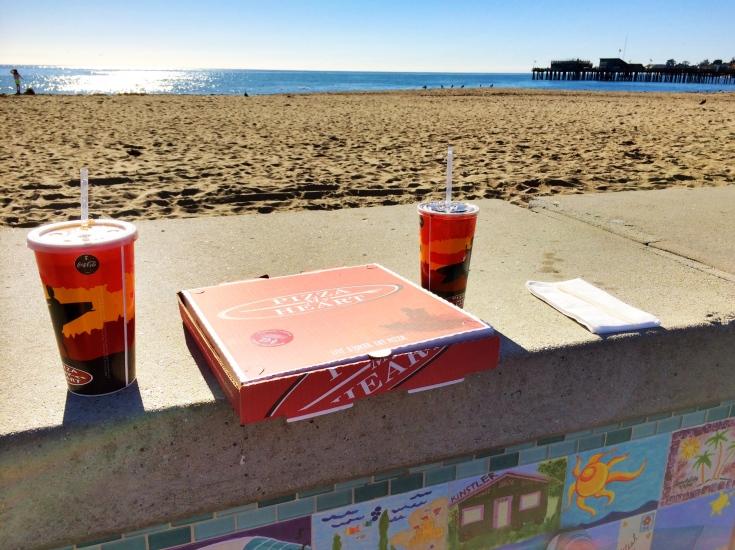 Pizza My Heart on the beach