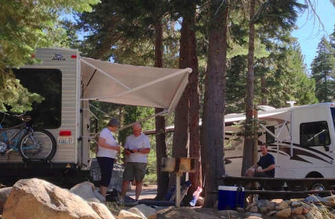 Camping with family in Lake Tahoe